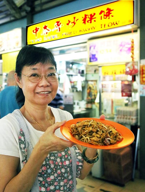 中峇鲁炒粿条是其中一摊价廉物美的小贩摊。
